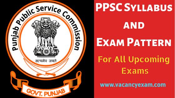 ppsc syllabus exam pattern