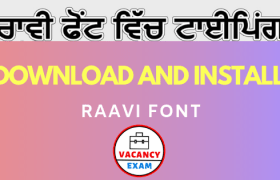 download and install raavi font
