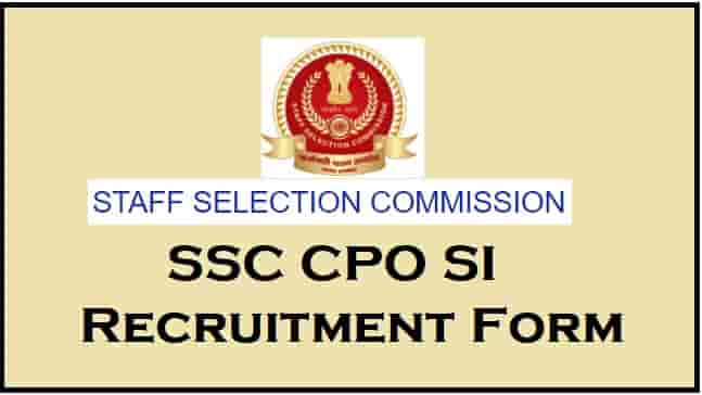 ssc cpo 2020 jobs