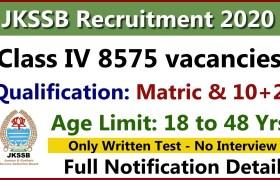 jkssb recruitment class 4