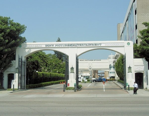 L'ingresso dei Sony Pictures Studio Tour vicino Los Angeles