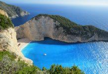 La spiaggia di Navagio, la spiaggia più bella di Zante, isole ioniche, Grecia