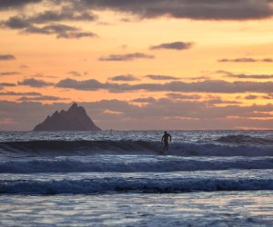 surfing at Saint Finian's bay
