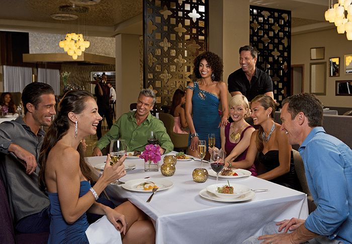 Enjoy a group dinner at Coquette.