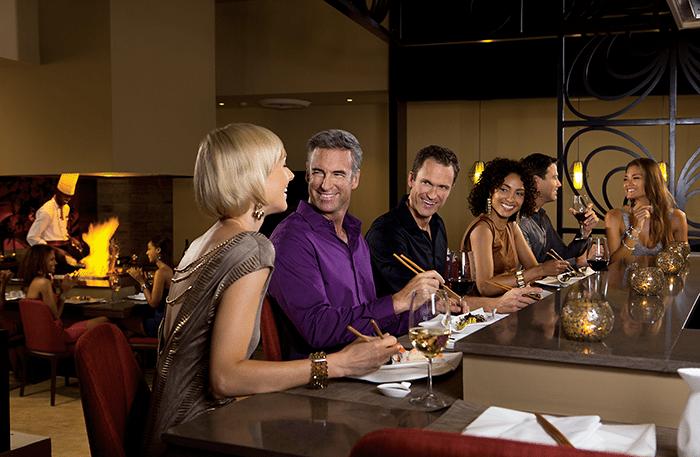Enjoy the teppanyaki table at Silk City.