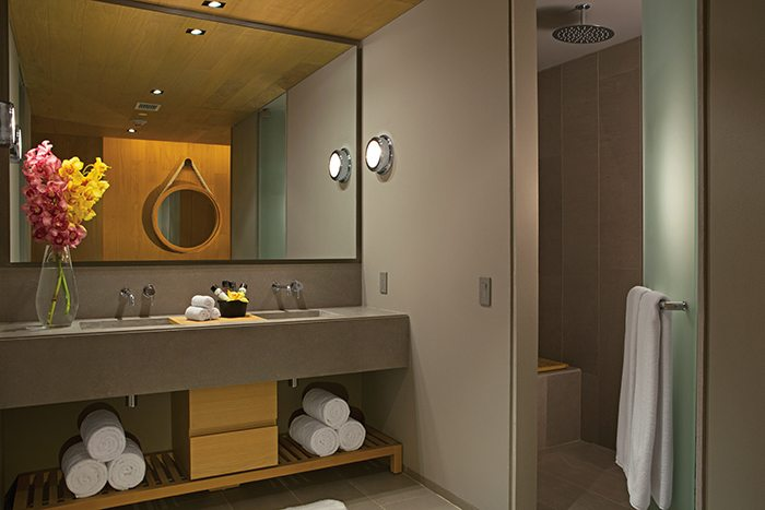 Allure Suite modern bathroom.