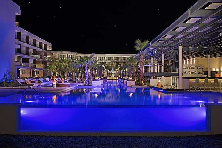 Freestyle Pool at Night.