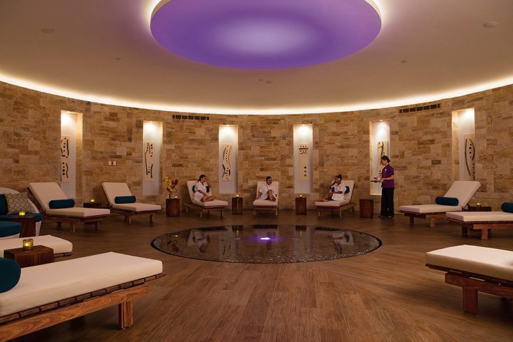 Spa relaxation area.