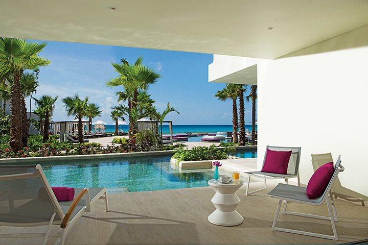xhale club Swimout terrace.