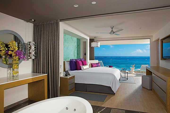 Xhale Club Master Suite Ocean Front Bedroom.