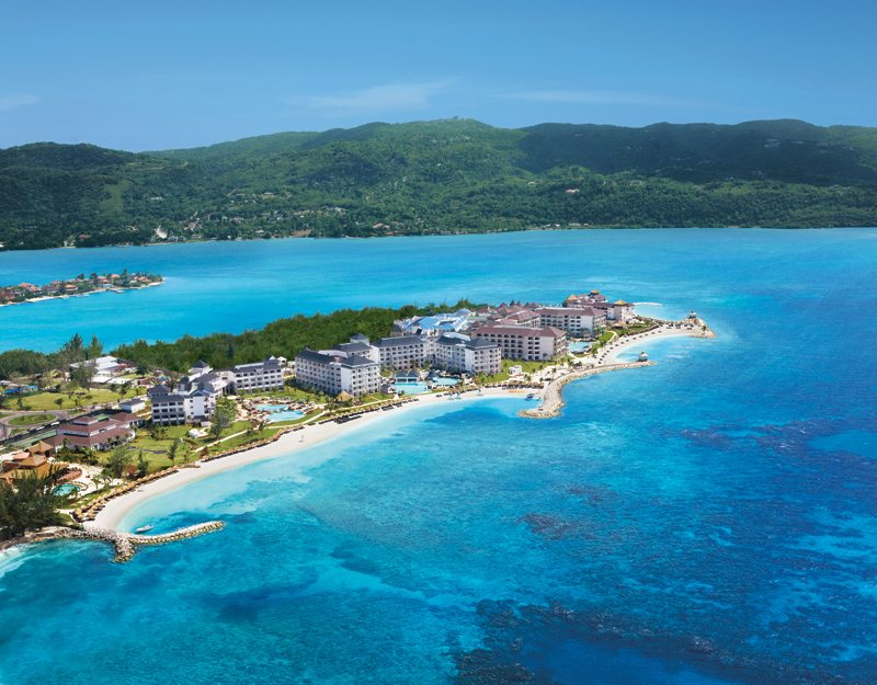 A second aerial of Secrets St. James Montego Bay.