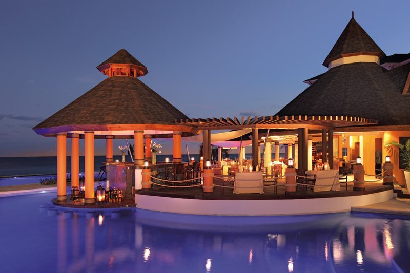 The Oceana offers a variety of seafood favorites under a large open-air palapa