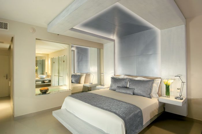 The Junior Suite features sleek furnishings and contemporary decor.