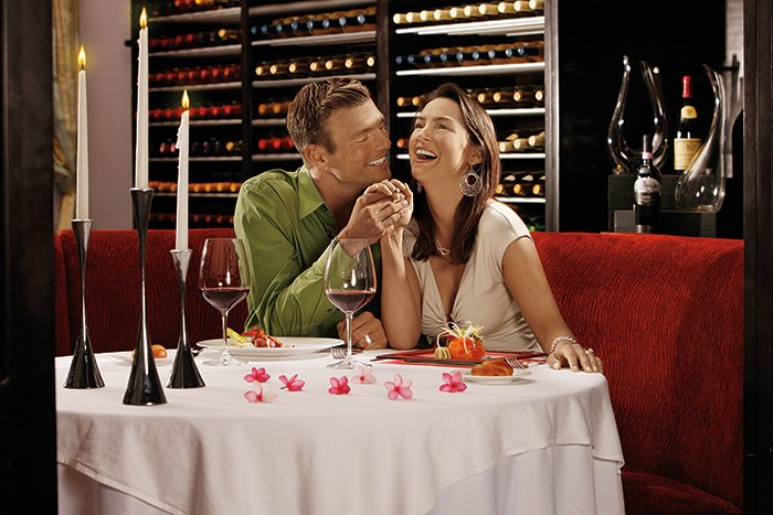 The wine cellar also offers couples or small groups an intimate dining experience.