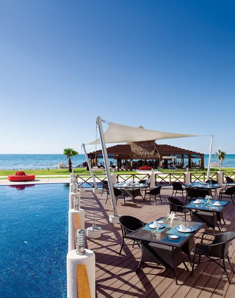 Oceana serving fresh gourmet seafood in a quiet and romantic seaside setting.