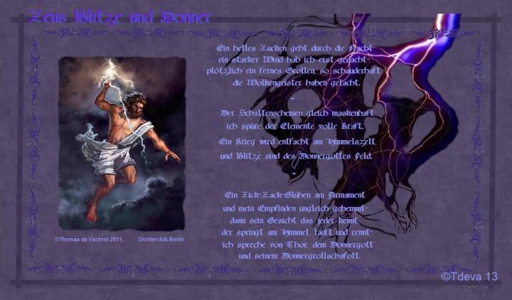 Zeus Blitze und Donner