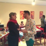 Gespräche am Rande: Superintendentin Viola Kennert und Joschka Langenbrinck MdA Berlin