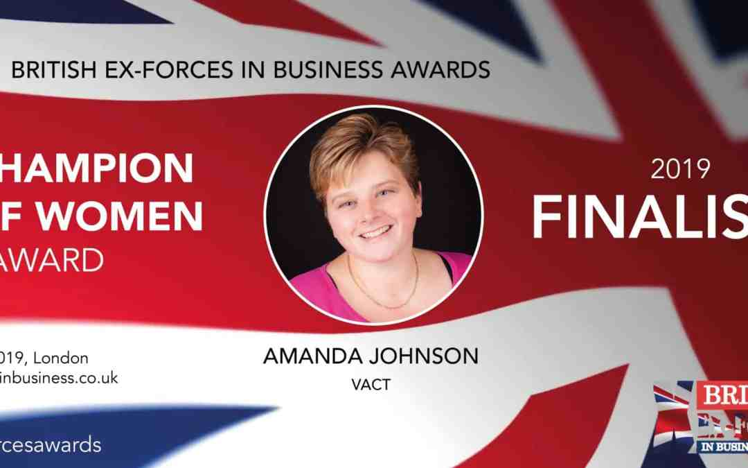 Finalist – British Ex-Forces Business Awards