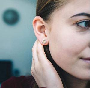 Daisy Crystal Stud Earrings Created with Austrian Crystals