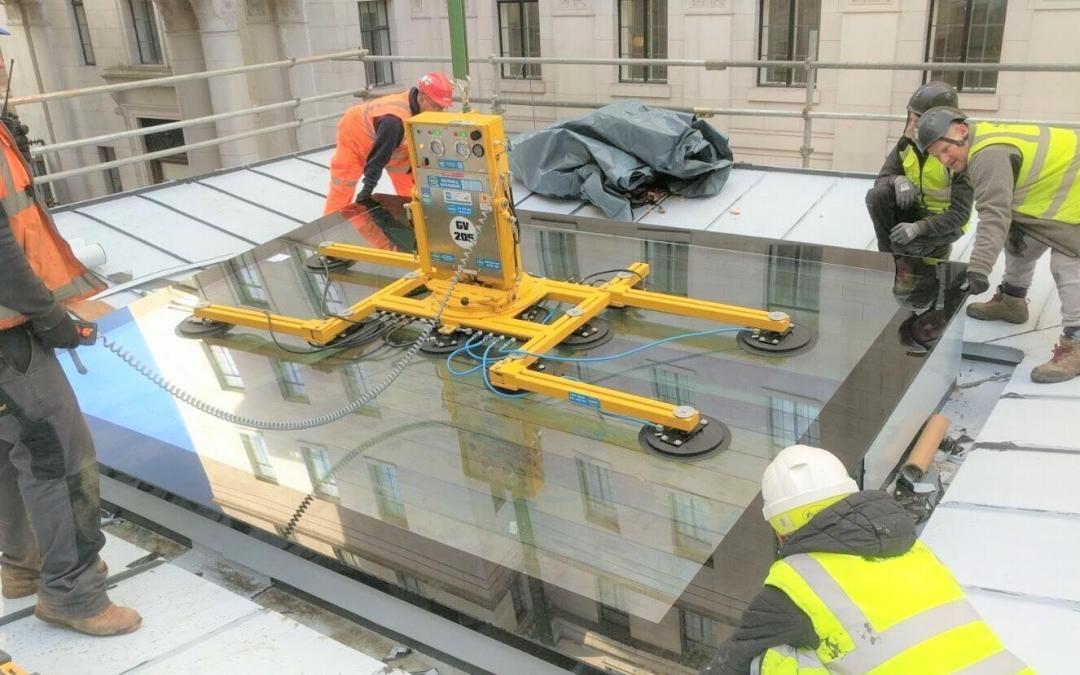 Vacuum & Crane glazing in London