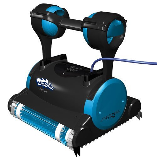 Best Pool Vacuum Cleaner Reviews: Dolphin 99996356 Triton Robotic Pool Cleaner with Caddy Swivel Cable
