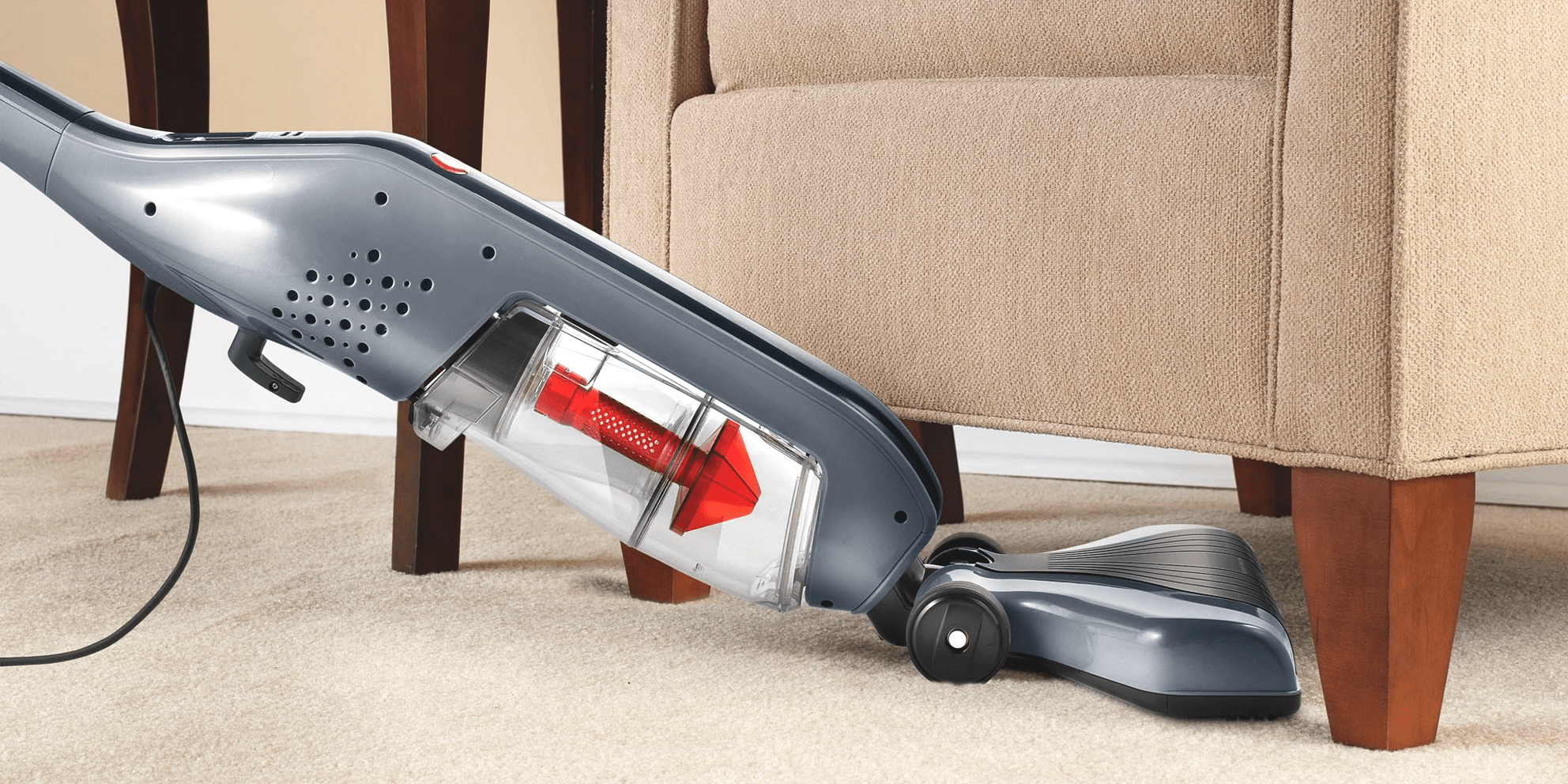 Hoover Corded Stick extreme recline