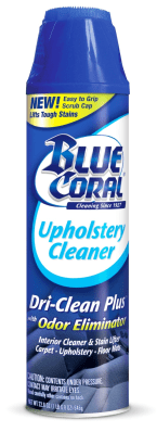 blue coral upholstery cleaner dri clean plus. Black Bedroom Furniture Sets. Home Design Ideas
