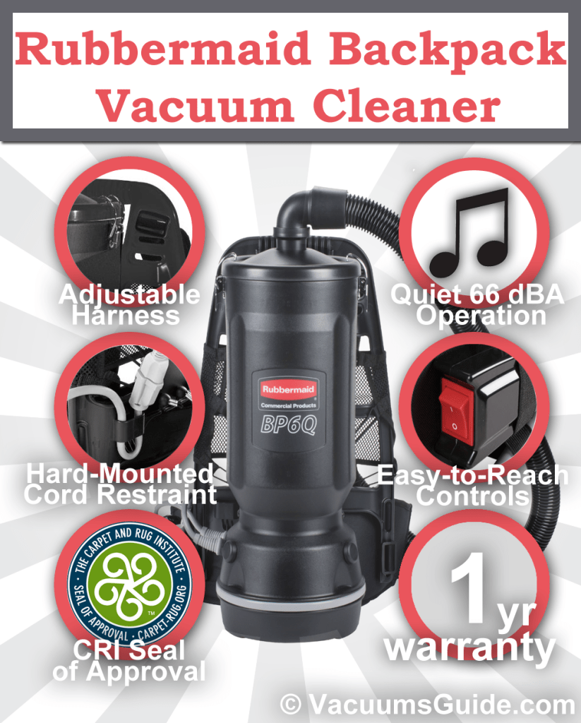 Rubbermaid Backpack Vacuum Cleaner