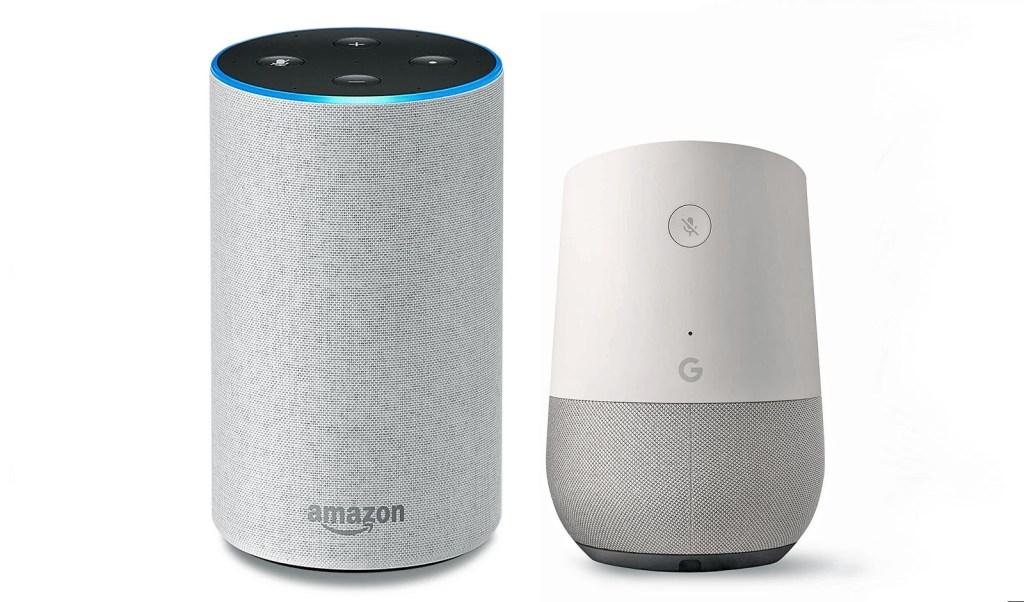 Amazon Echo Alexa and Google Home Assistant