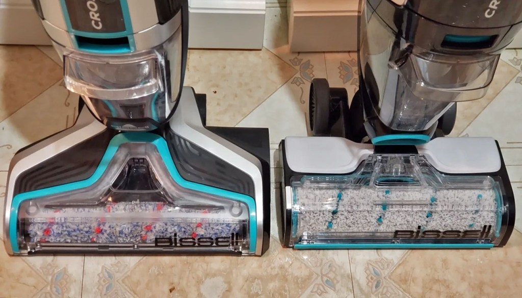 Bissell Crosswave Cordless (left) vs Bissell Crosswave Max (right)