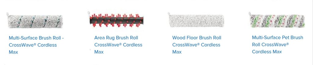 Different brush rolls