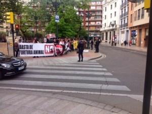 El pasado 25 de abril, en Zaragoza (Foto @ambitotoros)