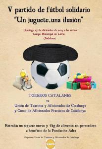 Cartel del V Partido de Fútbol Solidario de UTYAC.