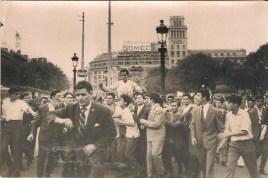 El Viti, a hombros en la plaza de Catalunya