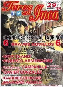 Cartel del próximo festival en Inca