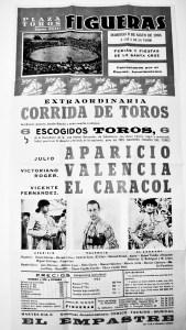 Cartel corrida de ferias de 1966 en Figueres.