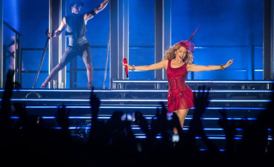 Kylie Minogue en el Palau Sant Jordi de Barcelona