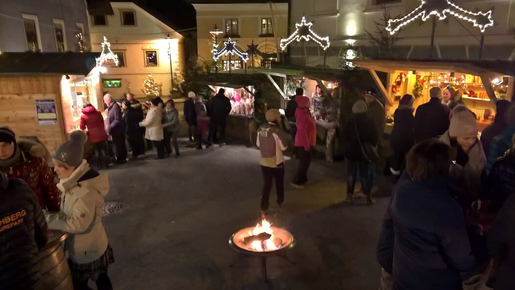 Kerst in Katschberg, de markt in st. Michaels