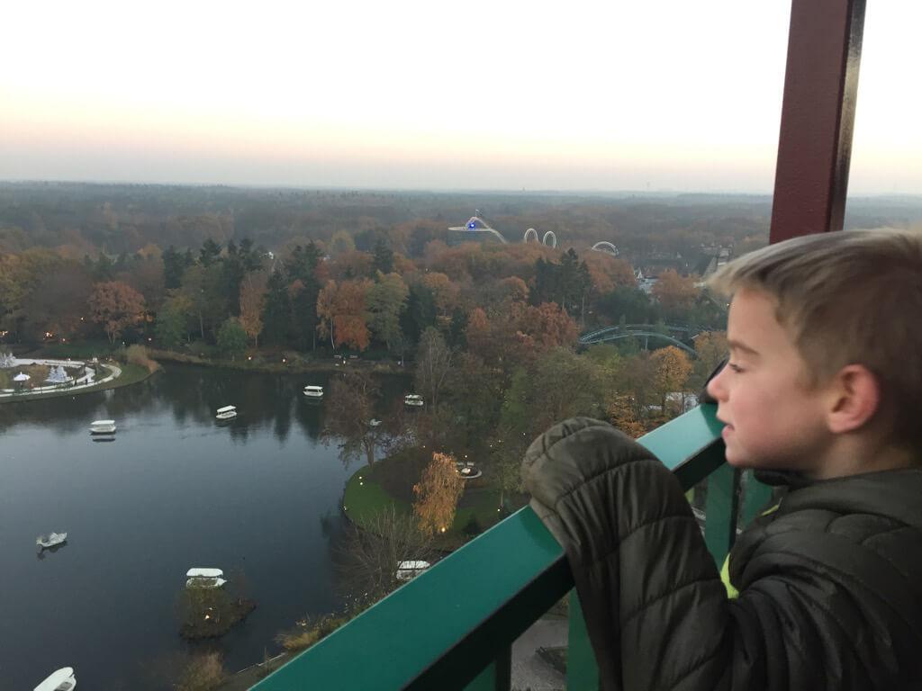 Uitzicht over Efteling