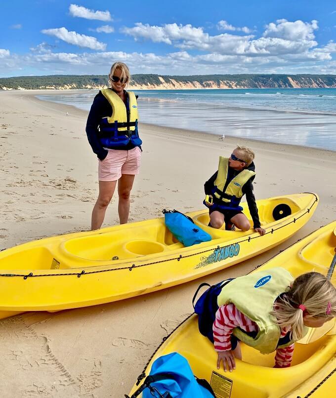 Australie - Kajak - Rainbow Beach - Familie