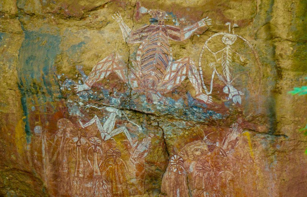 Aboriginal rotstekeningen bij Nourlangie