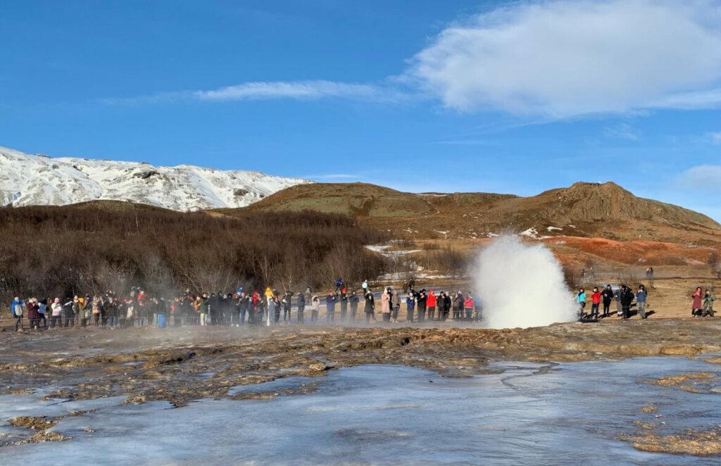 Geiser - IJsland in de winter
