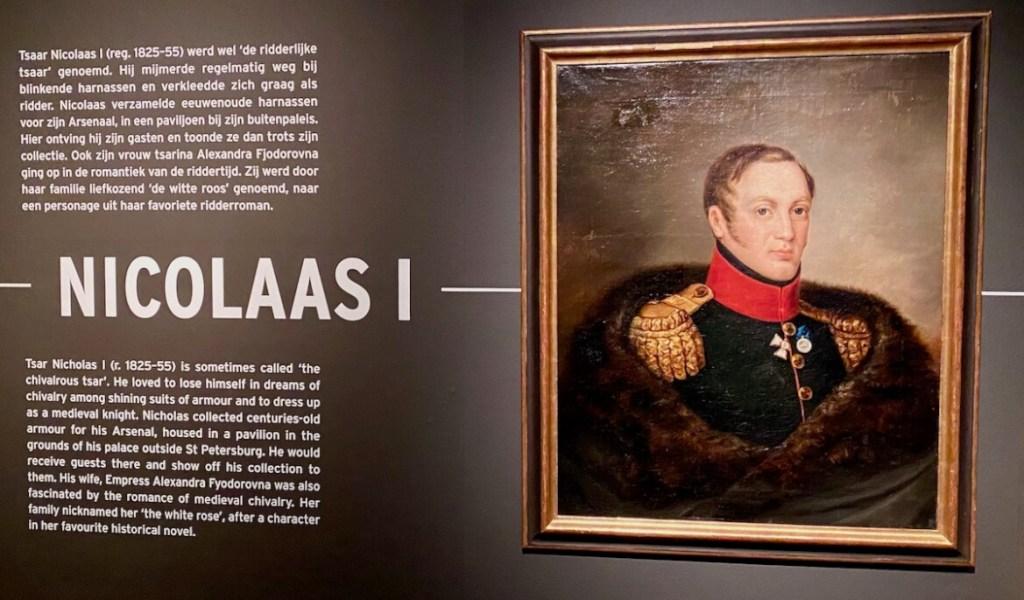 Tsaar Nicolaas I was een groot fan van ridders en hun uitrusting