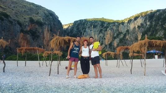 Prima vacanza in Albania, spiaggia di Gjipe