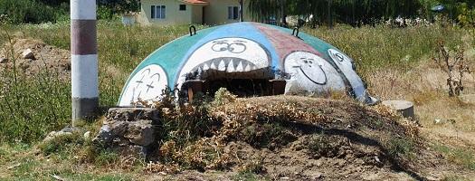 bunker in Pogradec Albania