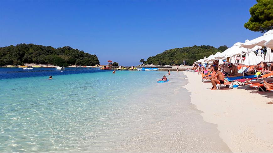 Spiaggia di Ksamil settembre