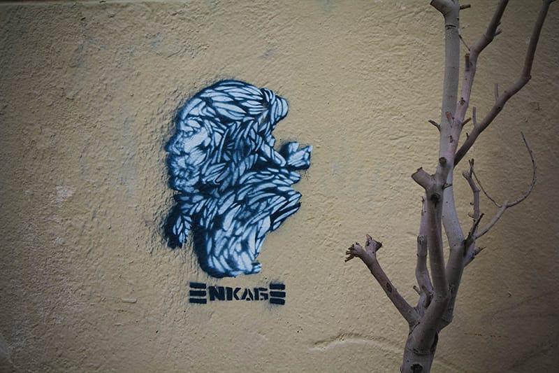 Street art panier Marseille