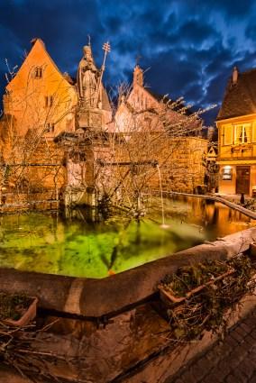 Eguisheim bei Nacht.