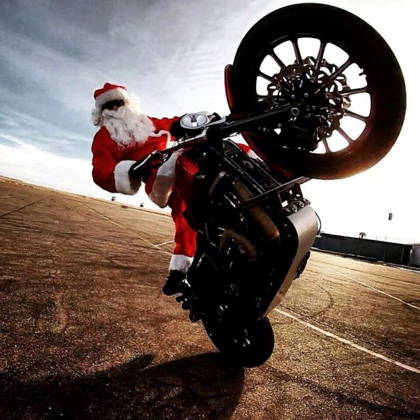 merry christmas motorcycle