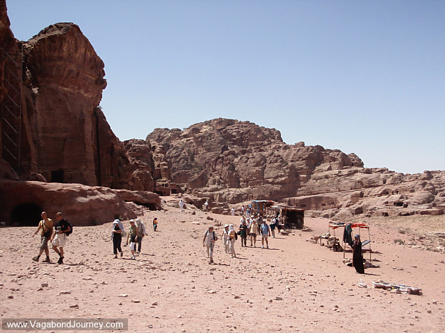 tourists in petra
